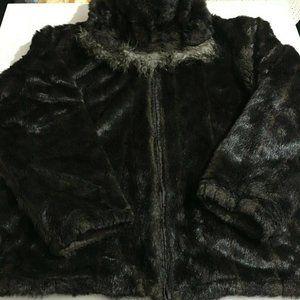 Phat Farm Sweaters - Phat Farm Mens 2XL Brown Reversible Hoodie Jacket